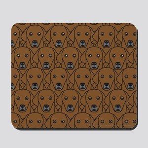Lots of Chocolate Labs Mousepad
