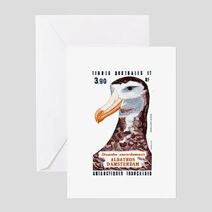 1985 Antarctic Territories Albatross Stamp Greetin