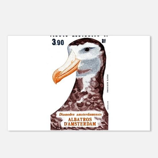 1985 Antarctic Territories Albatross Stamp Postcar