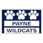 Payne Wildcats Sticker (Rectangle 50 pk)