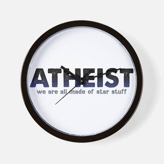 Atheist Star Stuff Wall Clock
