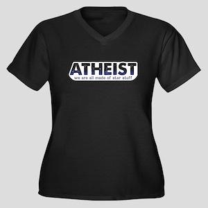Atheist Star Stuff Women's Plus Size V-Neck Dark T