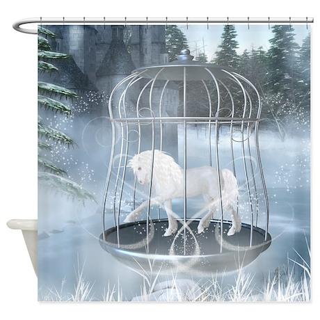 Captive Unicorn Shower Curtain