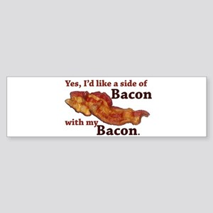 side of bacon Sticker (Bumper)