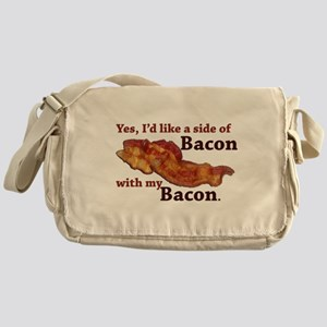side of bacon Messenger Bag
