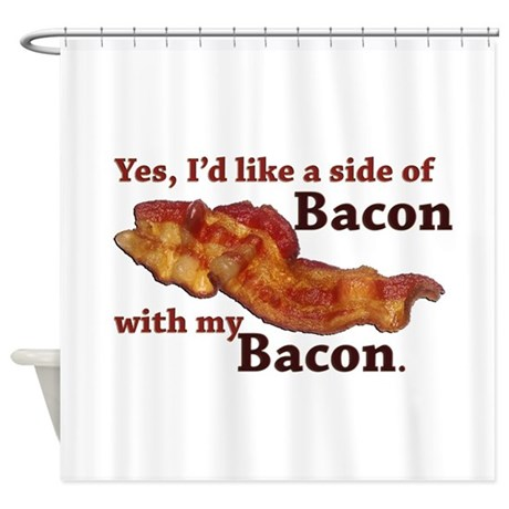 Side Of Bacon Shower Curtain