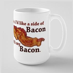 side of bacon Large Mug