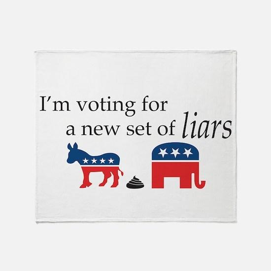 New Set of Liars Throw Blanket