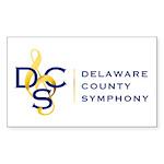 Full DCS Logo Sticker (Rectangle 50 pk)