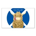 Wee Hamish Highland Cow  Sticker (Rectangle 50 pk)