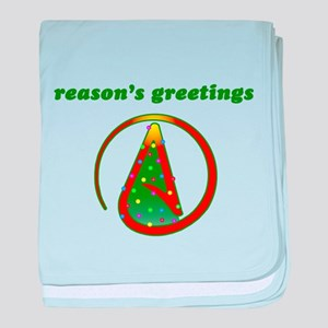 Reasons Greetings baby blanket