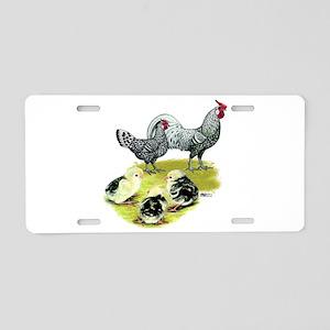 Hamburg Fowl Family Aluminum License Plate