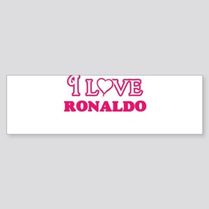 I Love Ronaldo Bumper Sticker
