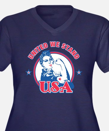 Rosie Riveter United USA Plus Size T-Shirt