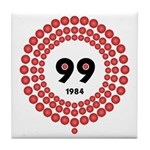 99 Red Balloons Tile Coaster