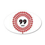 99 Red Balloons 35x21 Oval Wall Decal