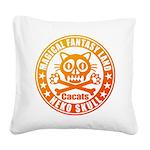 Cat Skull Square Canvas Pillow