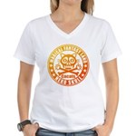 Cat Skull Women's V-Neck T-Shirt