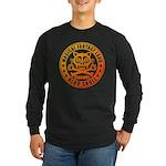 Cat Skull Long Sleeve Dark T-Shirt
