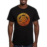 Cat Skull Men's Fitted T-Shirt (dark)