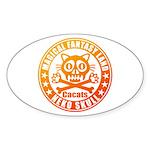 Cat Skull Sticker (Oval)