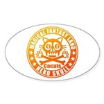 Cat Skull Sticker (Oval 50 pk)