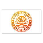 Cat Skull Sticker (Rectangle 50 pk)