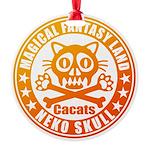 Cat Skull Round Ornament