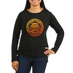 Cat Skull Women's Long Sleeve Dark T-Shirt