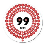 99 Red Balloons Round Car Magnet