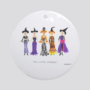 Little Witches Ornament (Round)