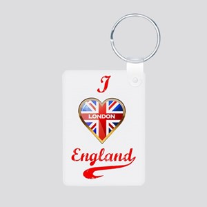 Union Jack Heart Aluminum Photo Keychain