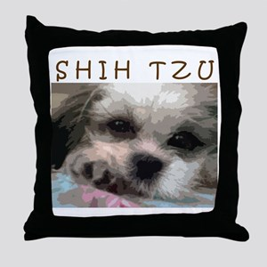 Shih Tzu Pop Art Matilda Throw Pillow