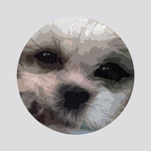 Shih Tzu Pop Art Matilda Ornament (Round)