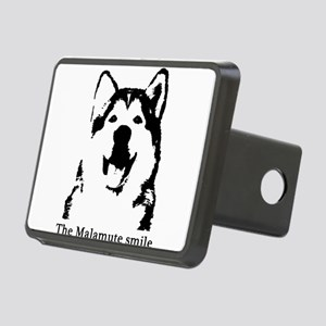 The Malamute Smile Rectangular Hitch Cover