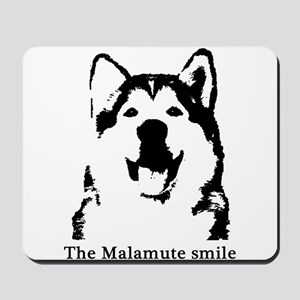 The Malamute Smile Mousepad