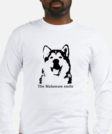 The Malamute Smile Long Sleeve T-Shirt