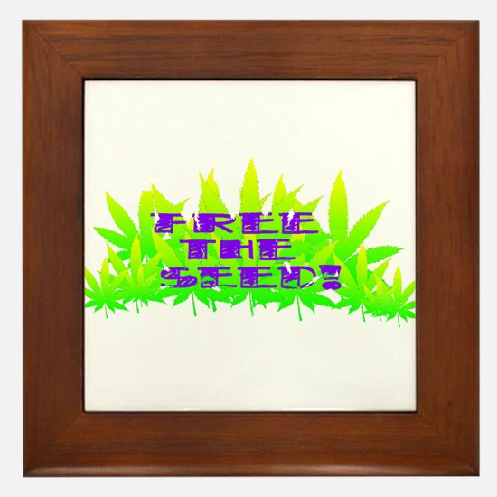 Free The Seed! Framed Tile