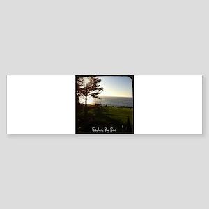 Front lawn at Esalen, Big Sur Sticker (Bumper)