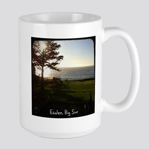 Front lawn at Esalen, Big Sur Large Mug