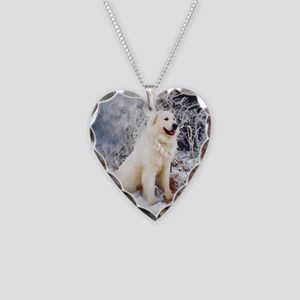 Great Pyrenees Necklace Heart Charm - Bois Neige