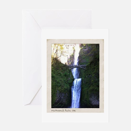 Multnomah falls, OR Greeting Card