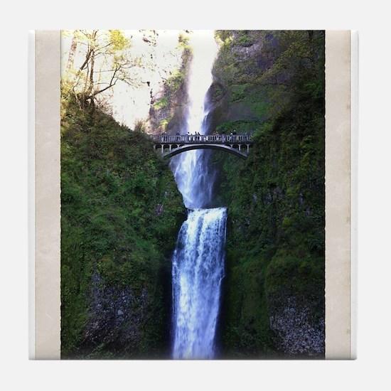 Multnomah falls, OR Tile Coaster