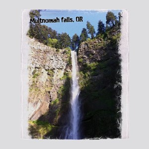 Multnomah falls, OR Throw Blanket
