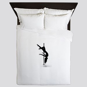 pole dancer 3 Queen Duvet