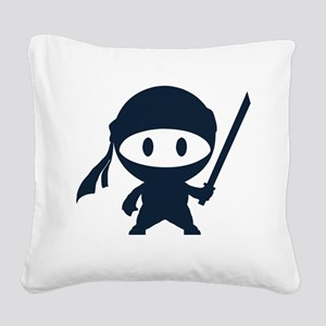 Ninja Square Canvas Pillow