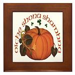 Gaelic Harvest Pumpkin Framed Tile