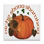 Gaelic Harvest Pumpkin Tile Coaster
