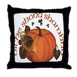 Gaelic Harvest Pumpkin Throw Pillow