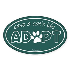 Save a Cat's Life - Adopt Oval Decal